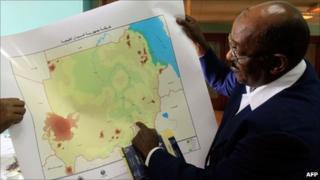 New map of Sudan