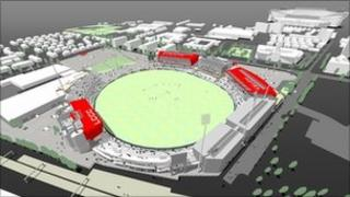 Artist's impression of the new ground