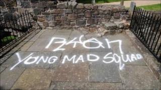 Graffiti at Mars Walk