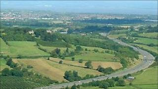 The M5 near Weston-super-Mare