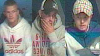CCTV pictures of three men police would like to speak to