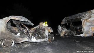 Kingussie crash scene. Pic: Aaron Sneddon