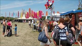 Crowds begin to gather at the Guernsey Festival of Performing Arts