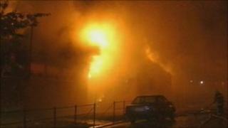 Manningham Ward Labour Club on fire