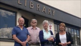 Left to right: John Smeaton, Tony Moore, Barbara Shaw and Annie Smith