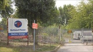 The disused Skelton Grange power station