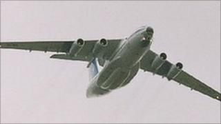 An Ilyushin IL-76