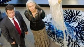 Prof Tony Ryan and Helen Storey