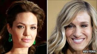 Angelina Jolie and Sarah Jessica Parker