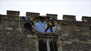 Conwy clock restoration (pic: Christopher Dearden)