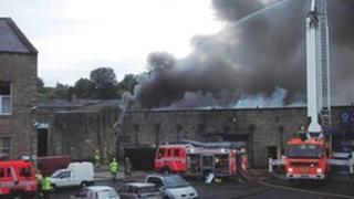 Fire in Colne