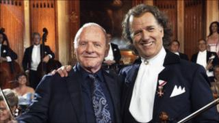 Sir Anthony Hopkins and Andre Rieu. (Photo: Govert de Roos)