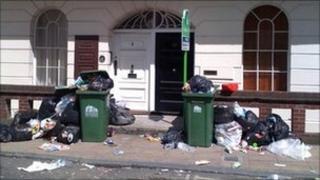 Rubbish in central Southampton