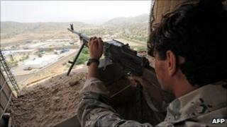 Afghan border policeman