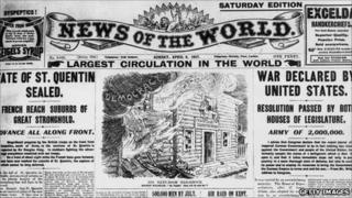 News of the World cover from 1917