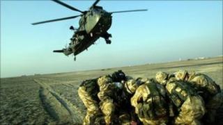 British troops in Basra in 2005