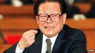 Jiang Zemin pictured in March 14, 1997