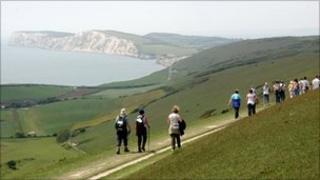 Isle of Wight walkers
