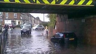 Flooding in the Leeman Road area of York