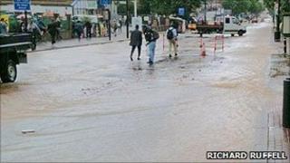 Flooding on Brixton Hill