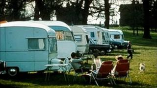 Caravan holidays in the early 1970's