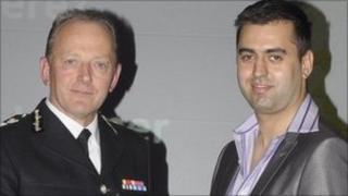 Sir Hugh Orde and David Perez