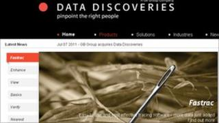 Data Discoveries web page