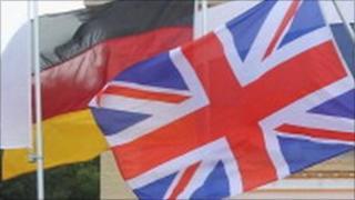 German flag and union flag
