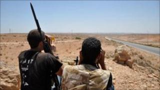Rebels in western Libya. Photo: 7 July 2011