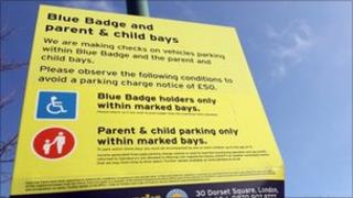 Car park sign Pic: Getty