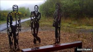 A bench commissioned by Sustrans which is located in Port Talbot in Wales