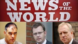 Tommy Sheridan, Andy Coulson and Bob Bird
