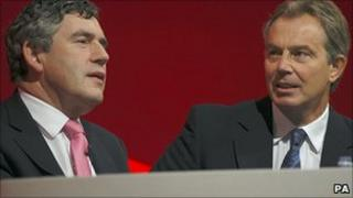 Gordon Brown and Tony Blair in 2005