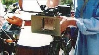 Film-makers in Kano (archive shot)