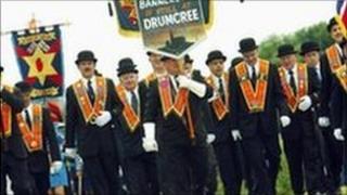 Orangemen march to Drumcree church