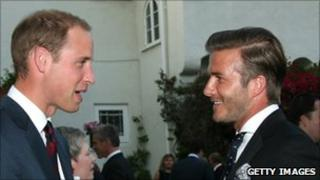 Prince William with David Beckham