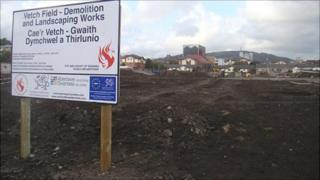 The site of the former Vetch Field
