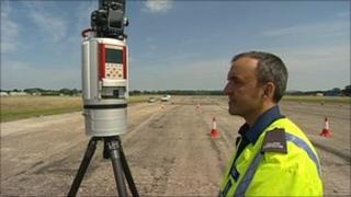 A 3D road crash site scanner