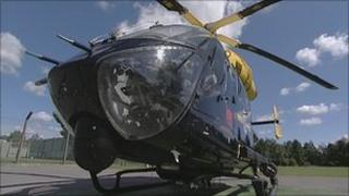 The Dorset Police helicopter