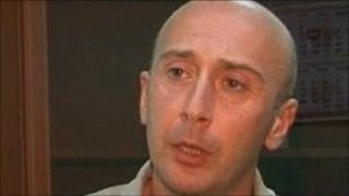 Video grab from Reuters TV of Irakli Gedenidze making his statement - 9 July 2011