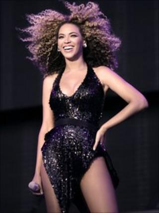 Beyonce at T in the Park at Balado