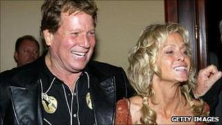 Ryan O'Neal and Farrah Fawcett in 2004