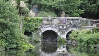 A Grade II listed bridge in Walpole Park