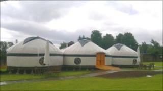 Three yurt pods