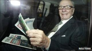 Rupert Murdoch in London (11 July 2011)
