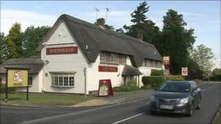 The Shepherds public house at Stragglethorpe, Nottinghamshire