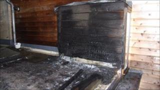 Chinese lantern fire damage