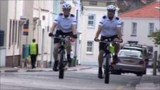 Jersey Police cyclists