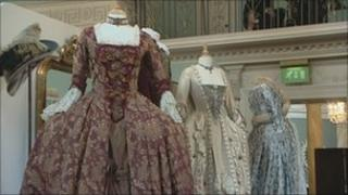 Bath's Fashion Museum, period costumes from TV and film