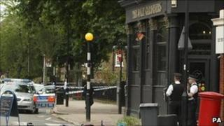 Scene of the shooting in Kennington